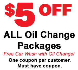 $5 Off ALL Oil Change Packages